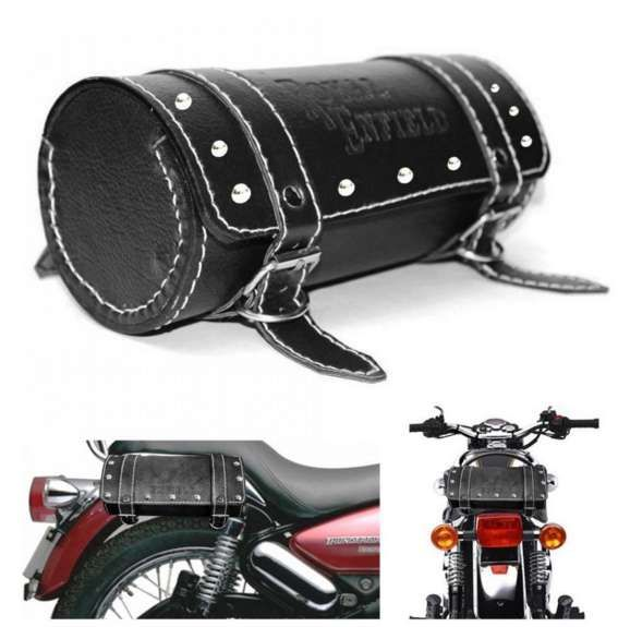 4. Black Bag Circle for Royal Enfield - Kawasaki And Biker Accessories That You Will Love To Buy_11