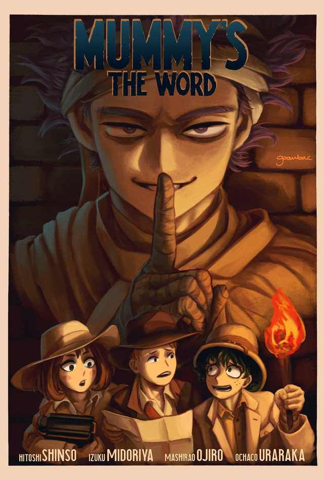 Mummy S The World Mha Horror Movie Poster Credit To Goombac On