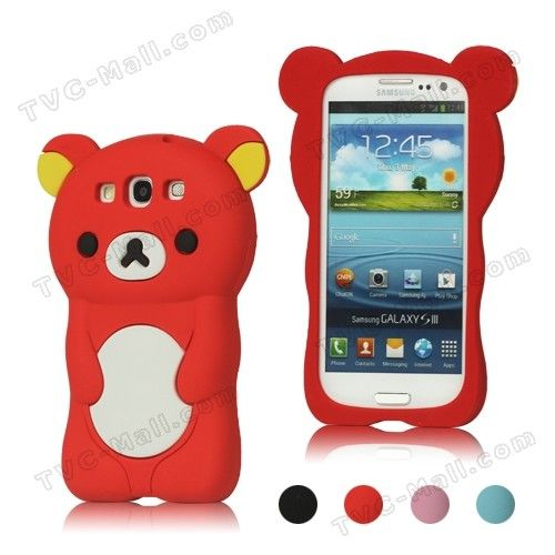 samsung galaxy s5 girl  phone cases | samsung galaxy s3 cases 3d rilakkuma bear silicone cover for samsung ...