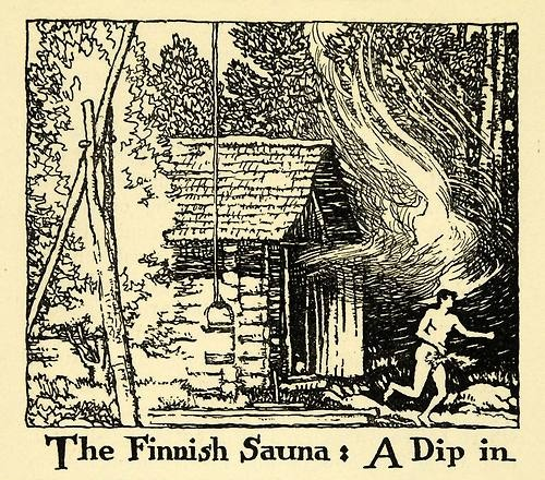 The Finnish Sauna: A Dip in. _____ from old story book.