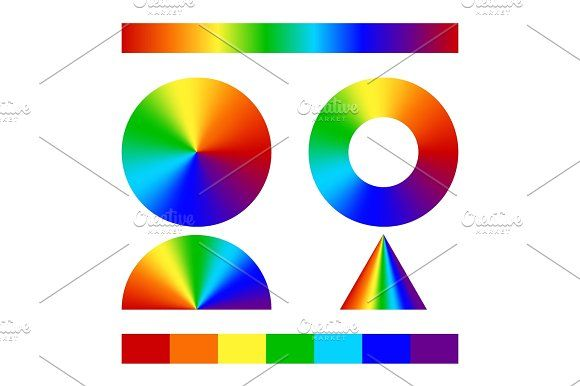 Multicolor conical gradient - Objects