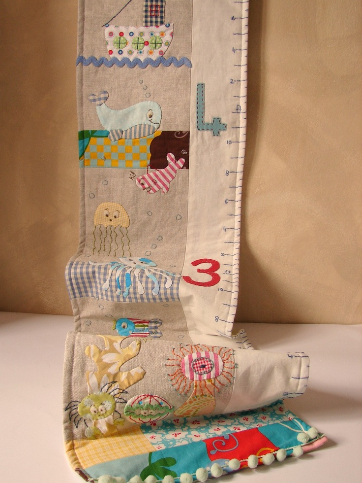 Growth chart boy MADE TO ORDER. $85.00, via Etsy.