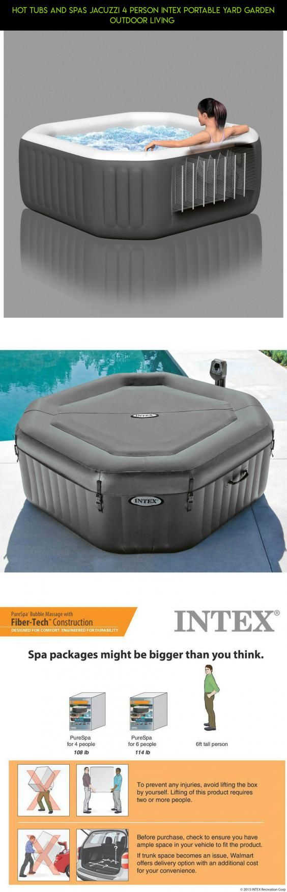 hot tubs and spas jacuzzi person intex portable yard garden outdoor living plans
