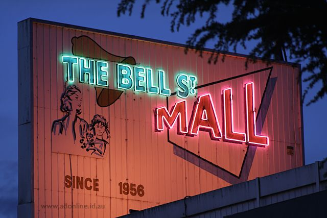 The Bell Street Mall | Melbourne Neon | adonline.id.au