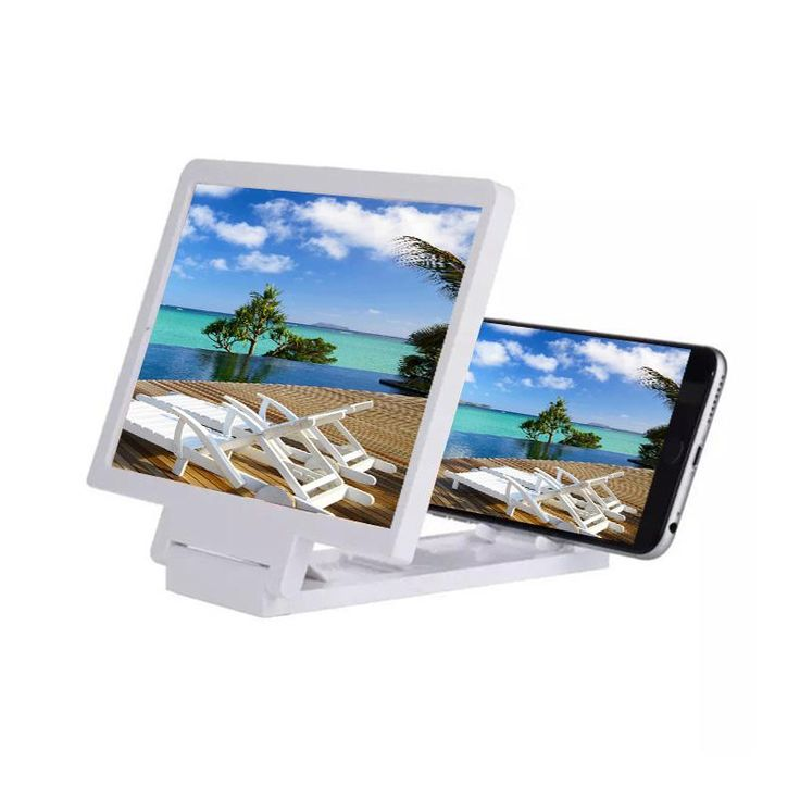 3D Movie Screen Enlarge Magnifier HD Projector Portable Folding Stand Universal For Samsung Mobile Cell Phones. Click visit to buy #lenses #accessories