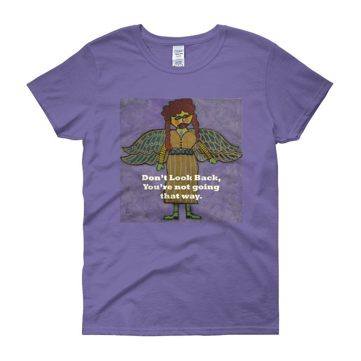 Don't Look Back Angel Women's short sleeve t-shirt