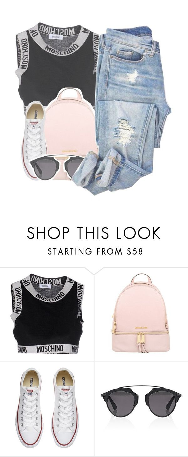 """""""Sin título #1721"""" by roxanaaylen ❤ liked on Polyvore featuring Moschino, Michael Kors, Converse and Christian Dior"""