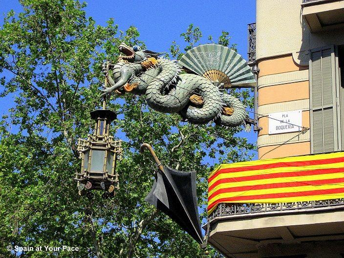 Sant Jordi Barcelona dragon