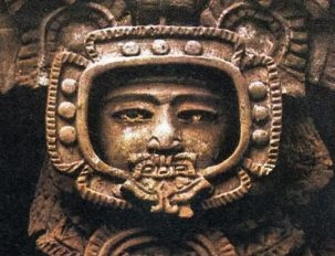 Ancient Artifacts What did the Mayans see? This looks like a man in a space suit. Aliens, or time travel?