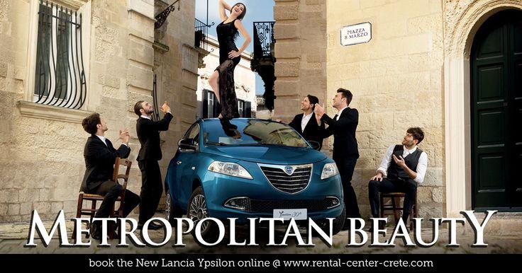 A lovely Italian Metropolitan beauty is ready to drive you anywhere in #Crete .  Book the New #Lancia Ypsilon as your next Rental Car in Crete Island #Greece  http://www.rental-center-crete.com/cars/group-b/lancia-ypsilon.html