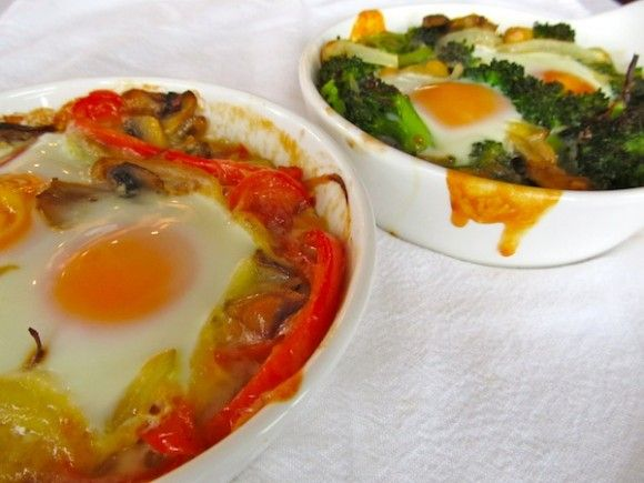 Eggs en Cocotte: A High Protein Breakfast. For the full recipe visit ...