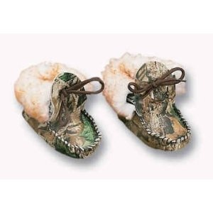 Weber's Camo Leather Baby Moccasins with Wool: Sports & Outdoors