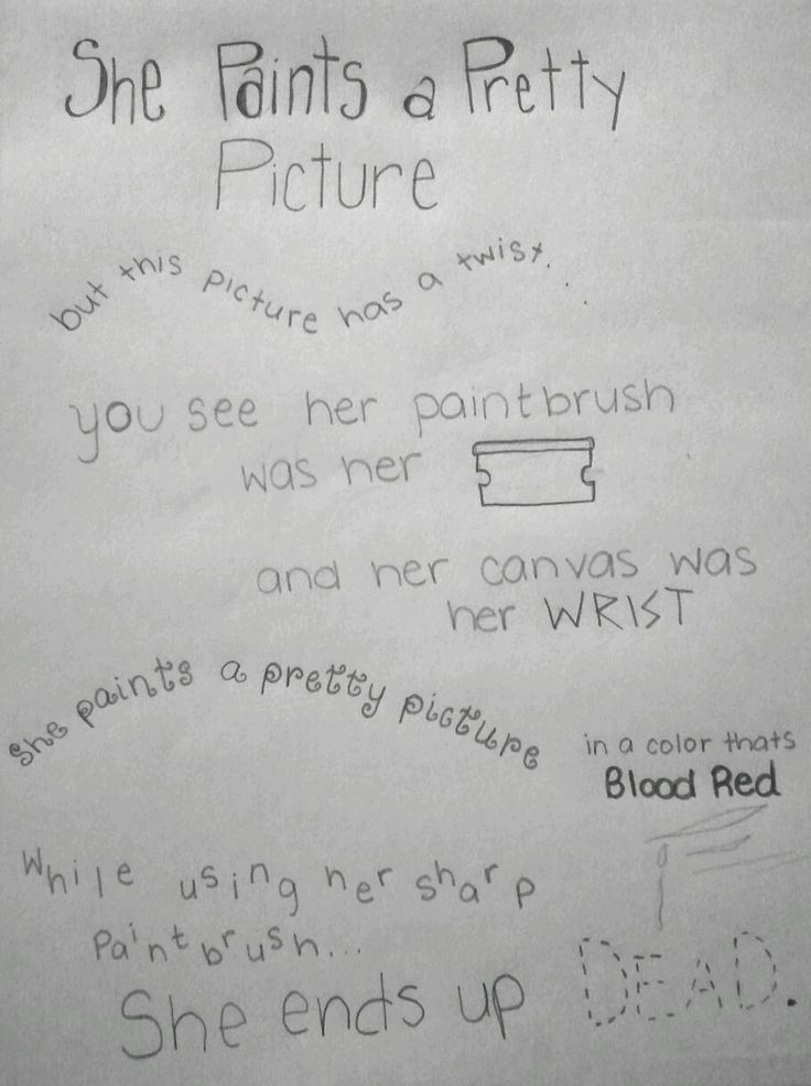 Depressing Quotes About Cutting: Famous Self Harm Poem I Shouldn't Like This But It Just