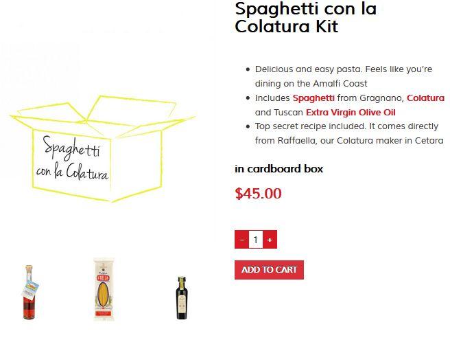 Feel like you're dining on the Amalfi Coast with our Spaghetti con la Colatura kit!