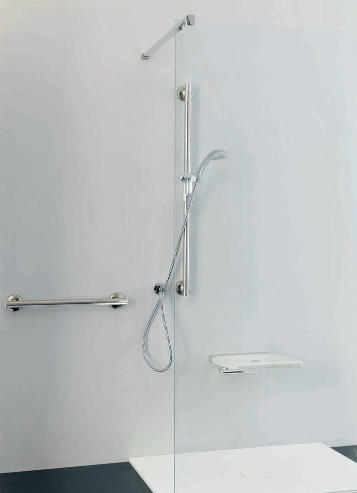 PONTE GIULIO BAGNOSICURO®-URBAN PEOPLE |Sedile doccia ribaltabile  seduta in ABS e struttura in acciaio inox AISI 304 415 x 425 x 105  205 euro