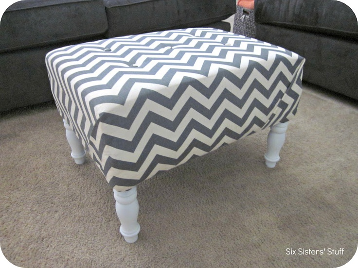39 Best Images About Diy Upholstered Ottomans On Pinterest