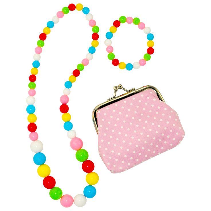 Christmas in #HTFStyle Rainbow jewellery set & purse | hardtofind.