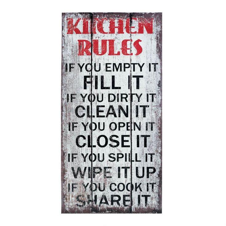 1000+ Ideas About Kitchen Rules On Pinterest