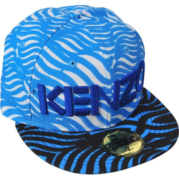 Kenzo Kenzo X New Era Cap ($55) ❤ liked on Polyvore featuring accessories, hats, kenzo, blue cap, caps hats, blue hat and kenzo cap