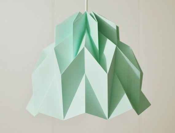 RUFFLE Origami Paper Lamp Shade Mint / FiberStore by FiberStore, $35.00