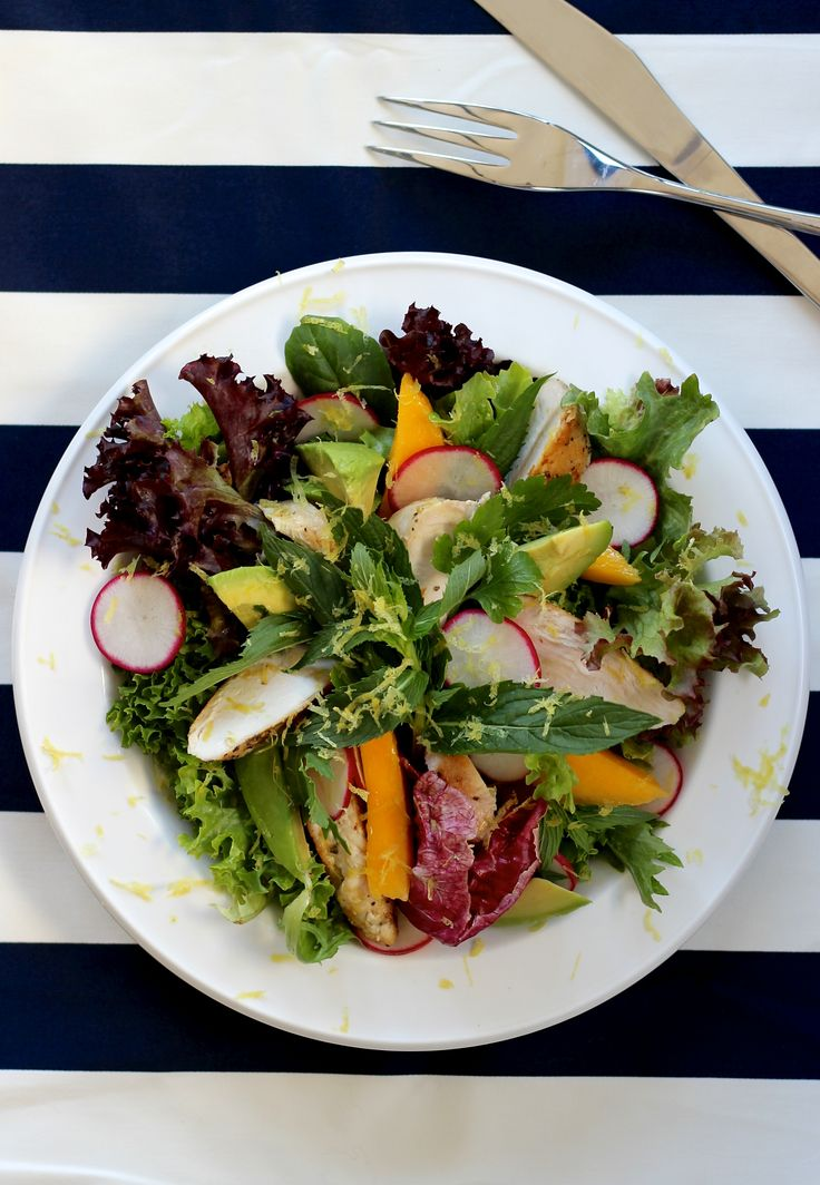 THE ULTIMATE GRILLED CHICKEN SUMMER SALAD. If you are sick of the same old chicken salads then we hope this will inspire you to try a this bright, light, and fresh summer salad. Made with the finest locally sourced seasonal produce.  20 Minutes. Gluten Free. Free Range. Only 530 Calories Per Serve.