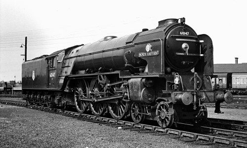 North Eastern 60147 at Grantham in 1952.