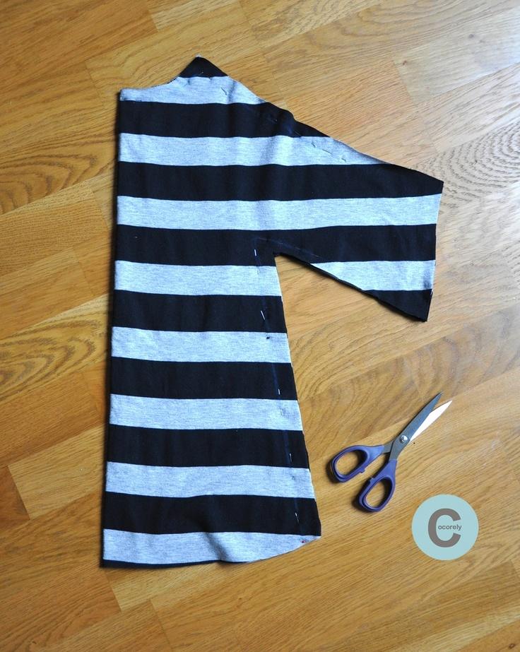 Les Fåntåisies de Cocorely: Robe de fillette à partir d'un grand T-shirt (DIY)