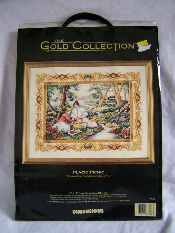 Dimensions Gold Collection Placid Picnic Counted Cross ...