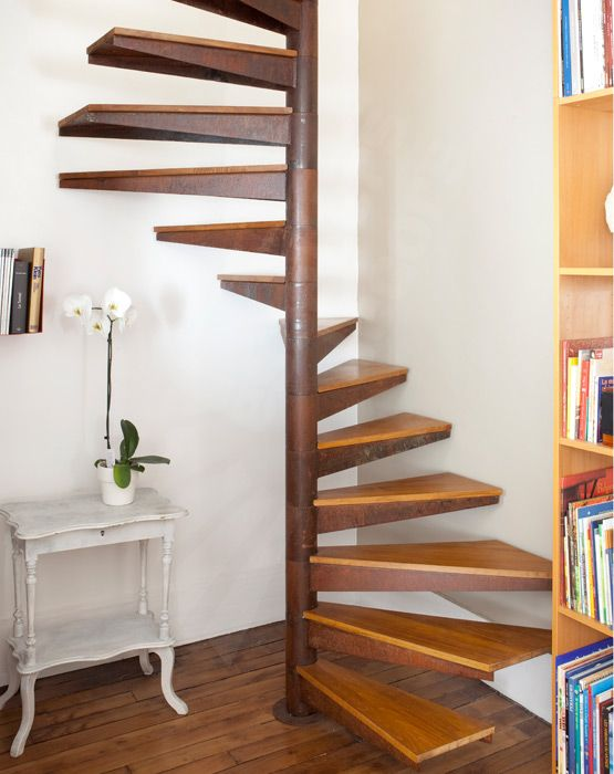 escalier helicoidal sur plan carre