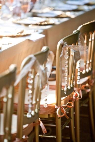 sparkle wedding chair decor
