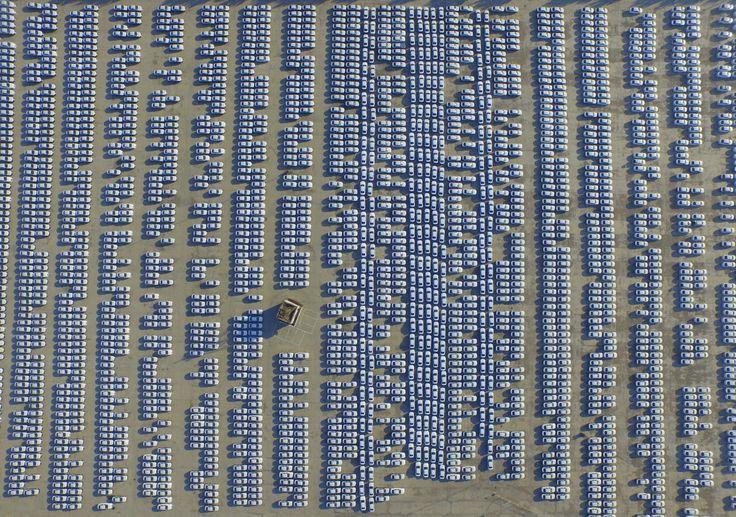 Enormes infraestructuras y zonas industriales en China