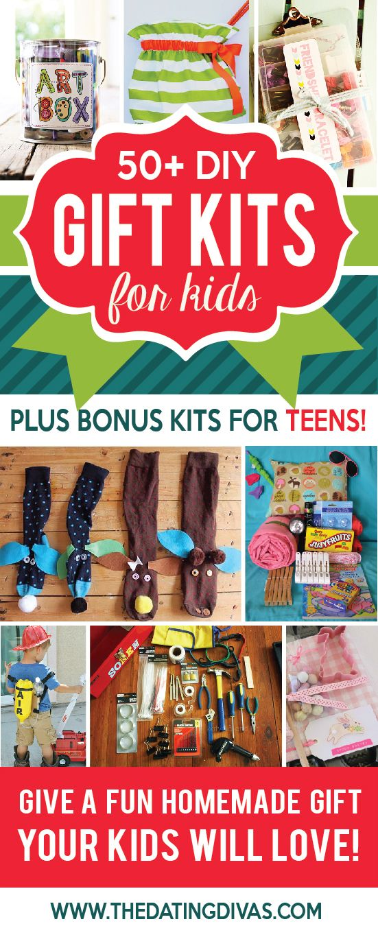 50+ Gift Kits for Kids. Great ideas for Christmas presents!