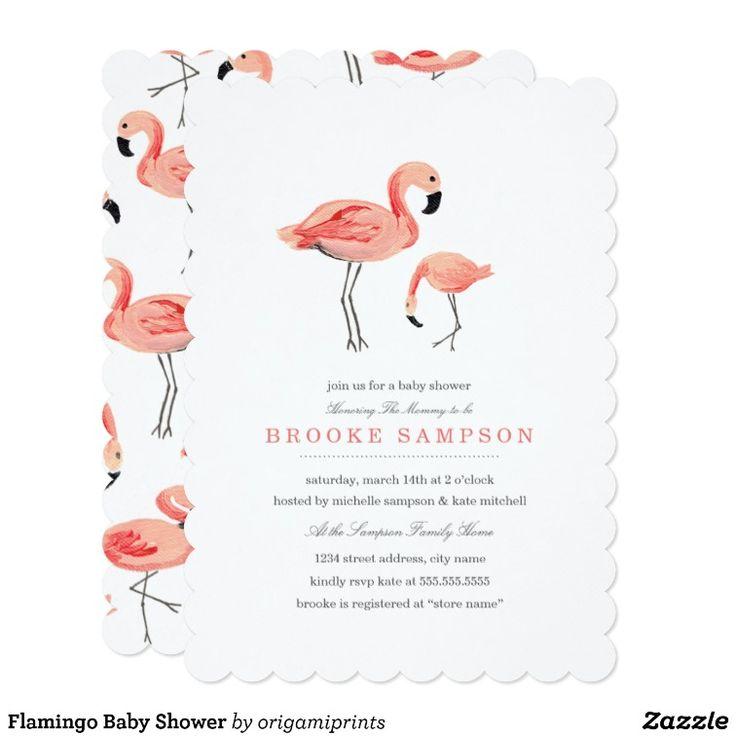 Flamingo Baby Shower Card