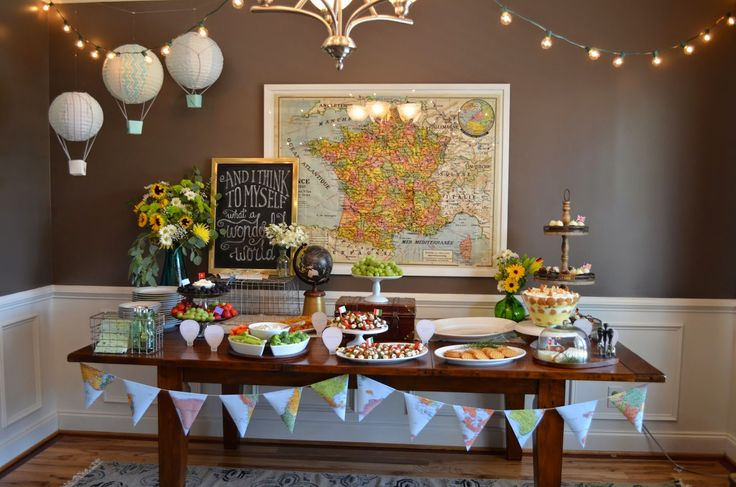 KariedAway.com : Welcome to the World Baby Shower  |  Oh, the Places He'll Go!  | Maps Baby Shower