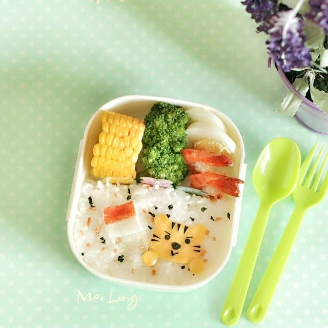 Happy Independence Day to my country! #17agustus #independence day #bento #kyaraben #charaben #foodpic #foodies #creativefood #kawaiifood #yummyfood #yummy #tiger #cutefood #obento