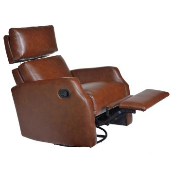 Sidney Leather Swivel-Glider-Recliner   Opulence Home   Home Gallery Stores