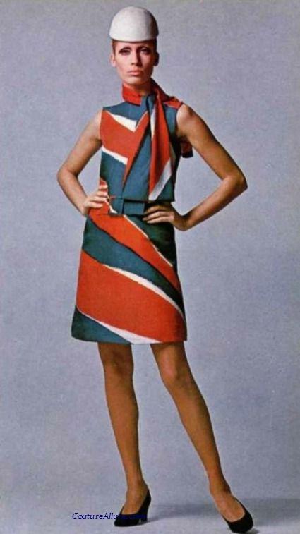 Jean Patou, 1967. Mod vintage fashion.