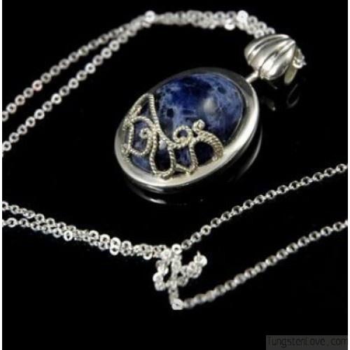 Katherine's Lapis Necklace - Vampire Diaries Katherine Necklace - Vampire Diaries Necklaces - $83.99 Tungstenlove.com
