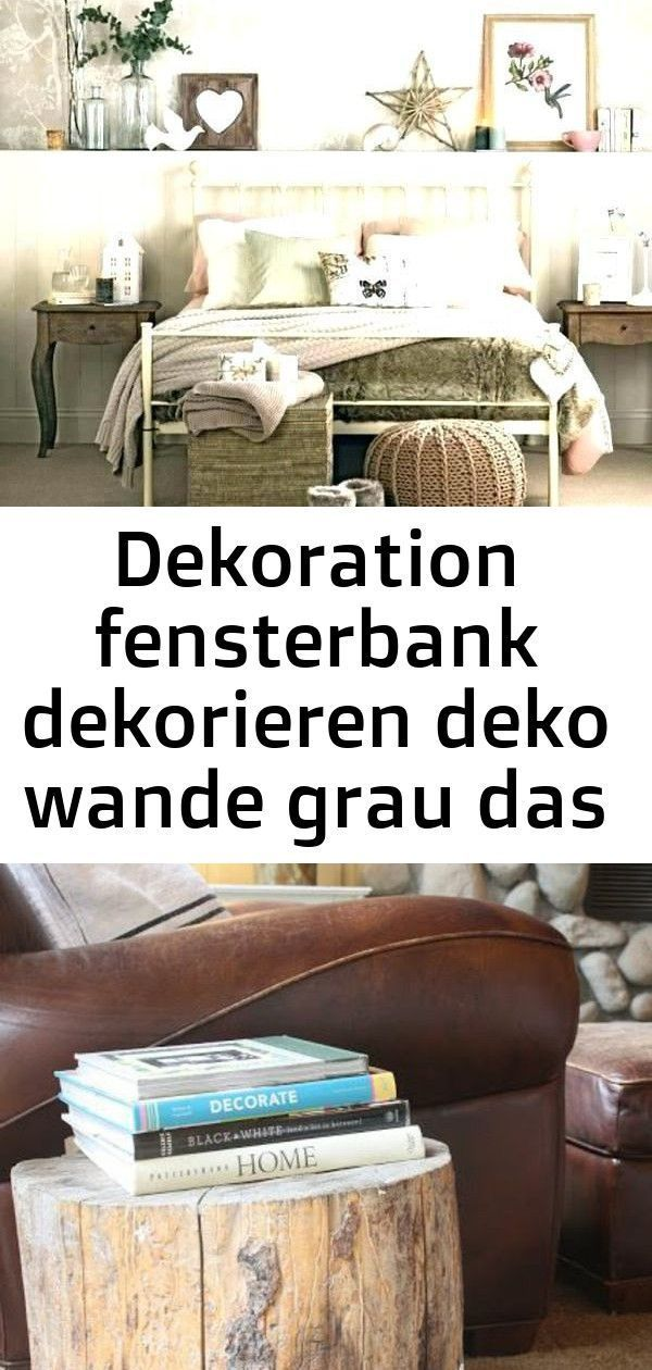 Dekoration Fensterbank Dekorieren Deko Wande Mausgrau Dasjenige