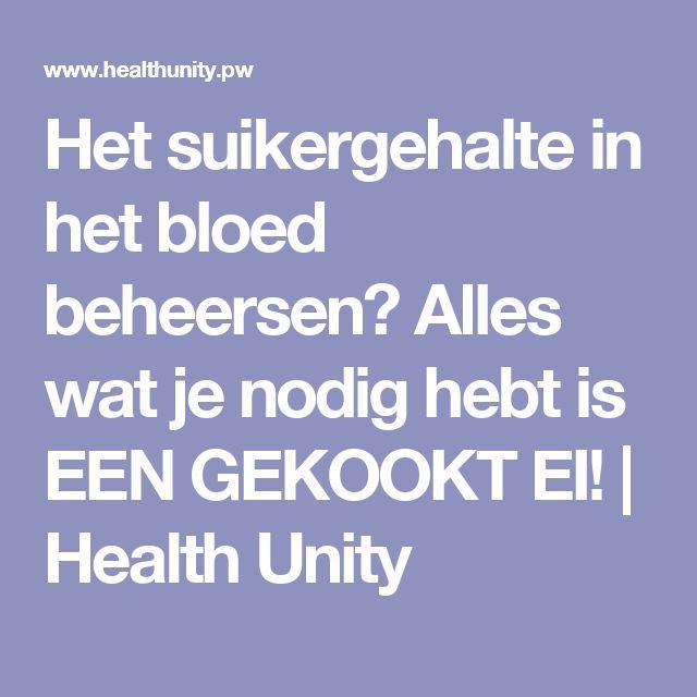 Het suikergehalte in het bloed beheersen? Alles wat je nodig hebt is EEN GEKOOKT EI! | Health Unity