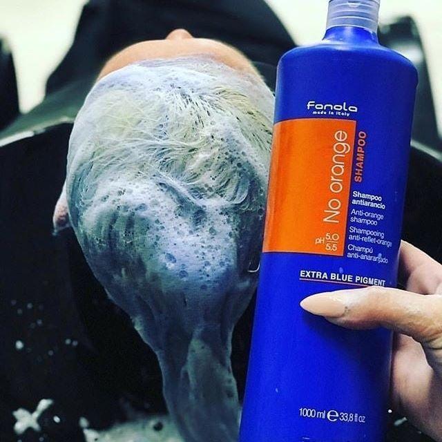 Fanola No Orange Shampoo 350ml Bleaching Hair At Home Brassy Hair Shampoo