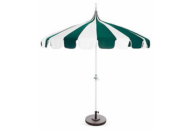Pagoda Patio Umbrella, Green on OneKingsLane.com