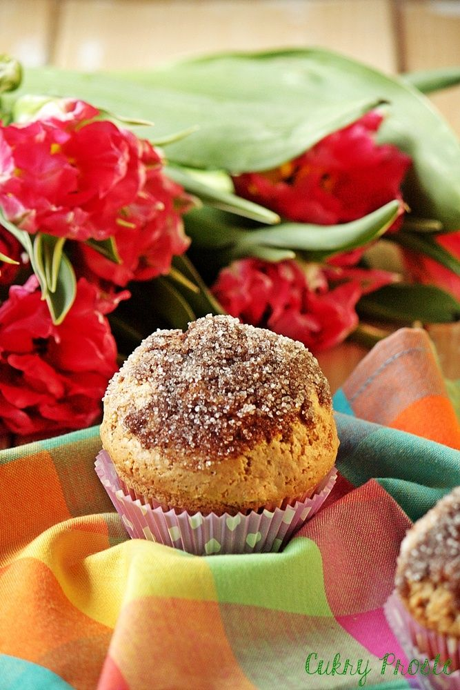 Cynamonowe muffiny nadziane Nutellą