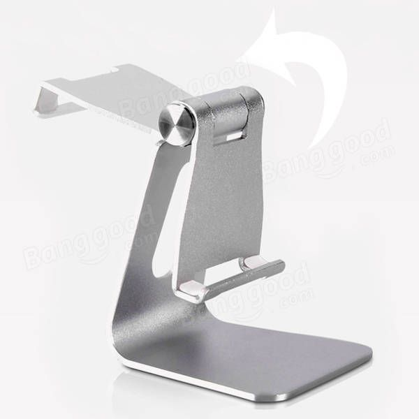 Bakeey™ ALT-4 Aluminum Alloy Adjustable Anti-slip Desktop Stand Charging Holder for iPad Phone Tablet Sale - Banggood.com