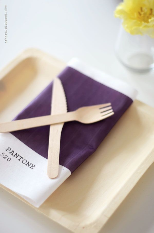 Napkins | 18 Colorful Pantone Projects