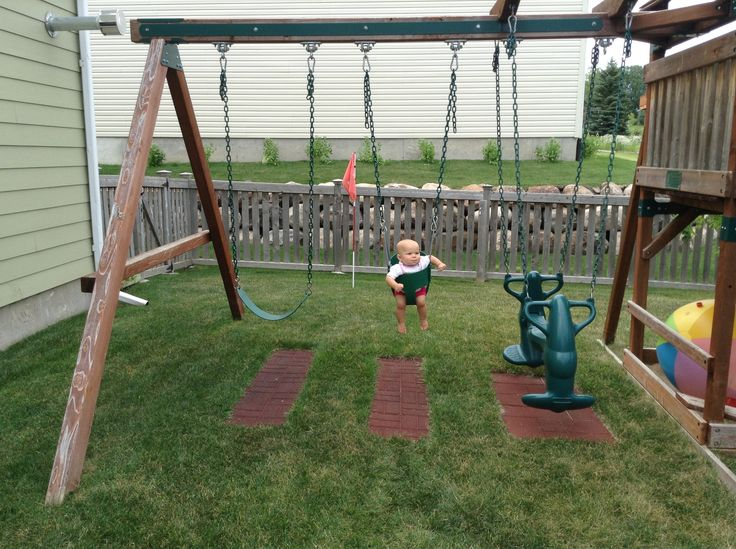 1000 images about outdoor play areas on pinterest swing for Creative swing set ideas