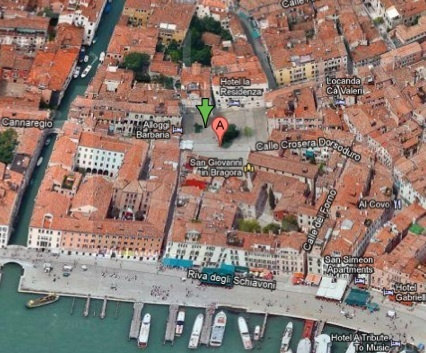 location of Nz pavillion for 2013 venice biennale    45.434656, 12.346664.