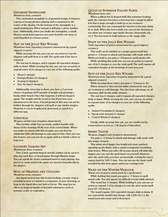 The Happy Holidays Handbook in 2019 | Dungeon | Dnd 5e