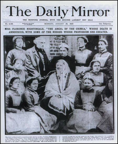 The death of Florence Nightingale. The Daily Mirror.