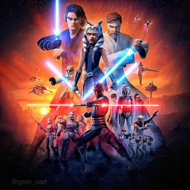 Official Starwars Theclonewars Final Season Poster Extended Textless Version By Geekcarl Star Wars Characters Seasons Posters Star Wars Concept Art